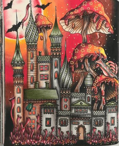 22 Priscila 42 Sao Paulo SP Lapisde Cor Color Peps48 Cores Castelo Tenebrosoilustradopor Hannah Karizonecoloridopormim