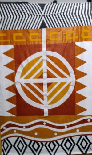 240 Cleide 57 Sorocaba SP Pintura Acrilica Sobre Algodao Olhar Indigena