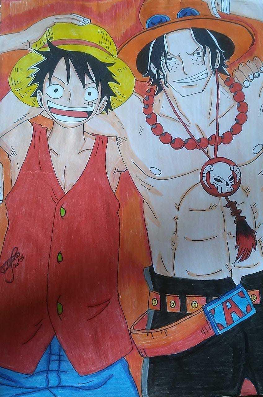 325 Vitoria 16 Paramirim BA Lapisde Cor Luffye Ace One Piece